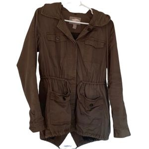 Military Style Button Coat